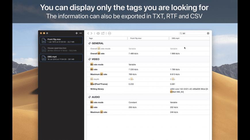 VideoScan for Mac - review, screenshots