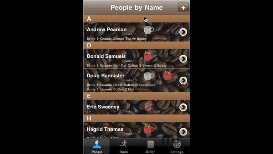 CoffeeRun for Mac - review, screenshots