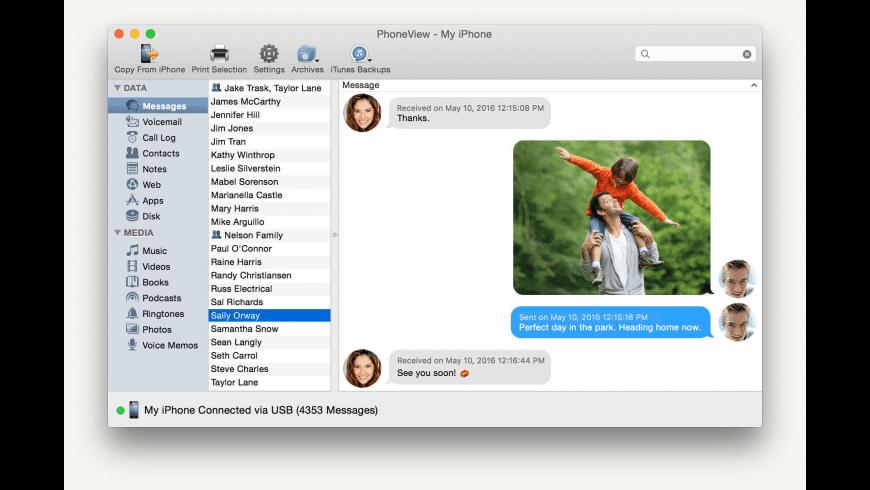 PhoneView for Mac - review, screenshots