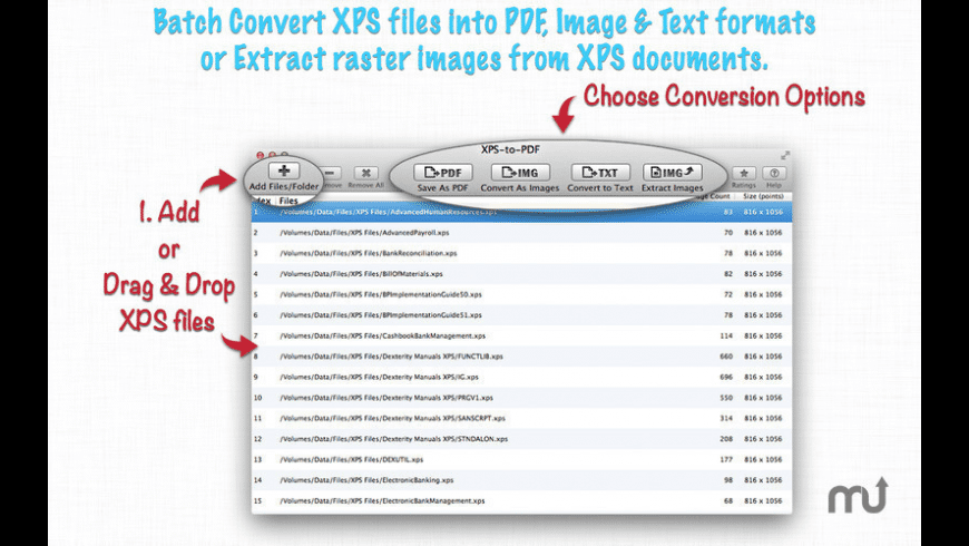 XPS-to-PDF for Mac - review, screenshots