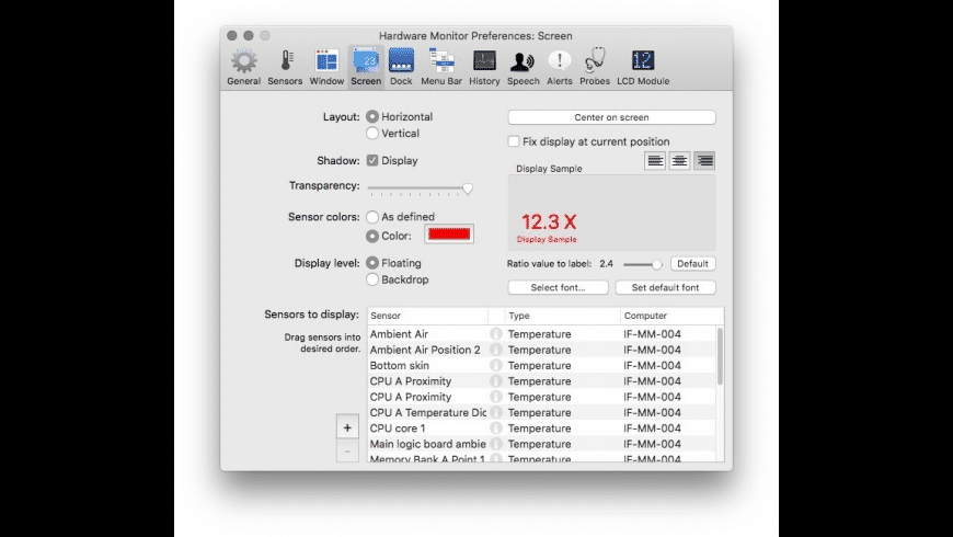 Hardware Monitor for Mac - review, screenshots