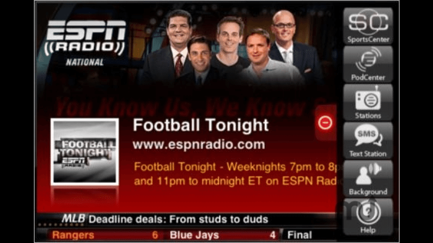 ESPN Radio for Mac - review, screenshots