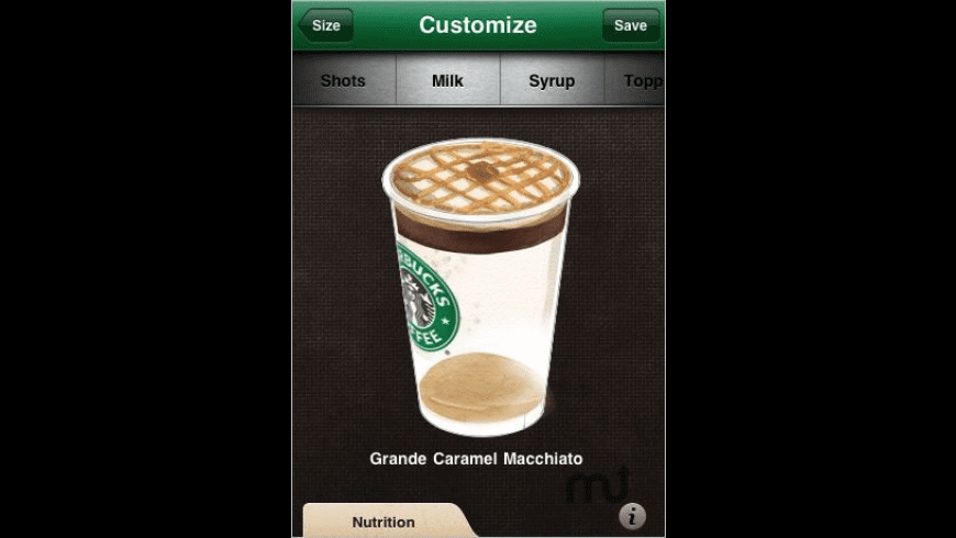 myStarbucks for Mac - review, screenshots
