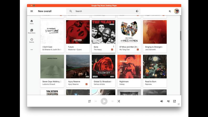 Google Play Music Desktop Player for Mac - review, screenshots