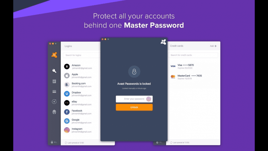 Avast Passwords for Mac - review, screenshots