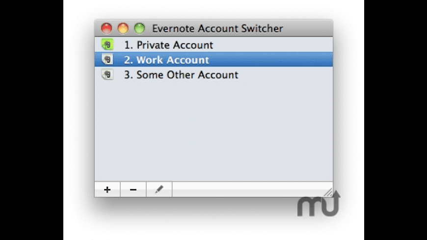Evernote Account Switcher for Mac - review, screenshots