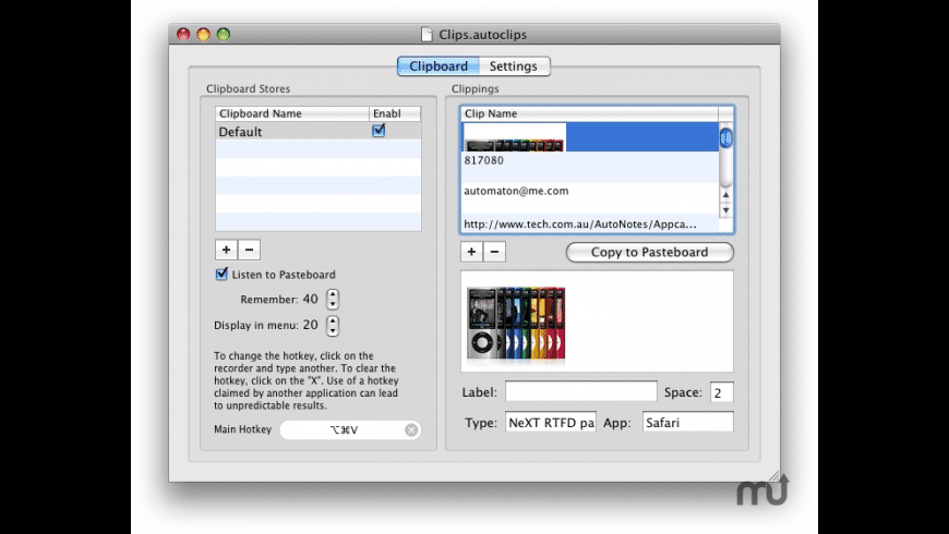 AutoClips for Mac - review, screenshots