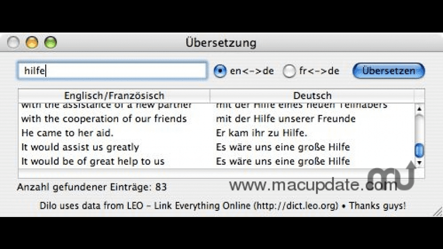 Dilo for Mac - review, screenshots