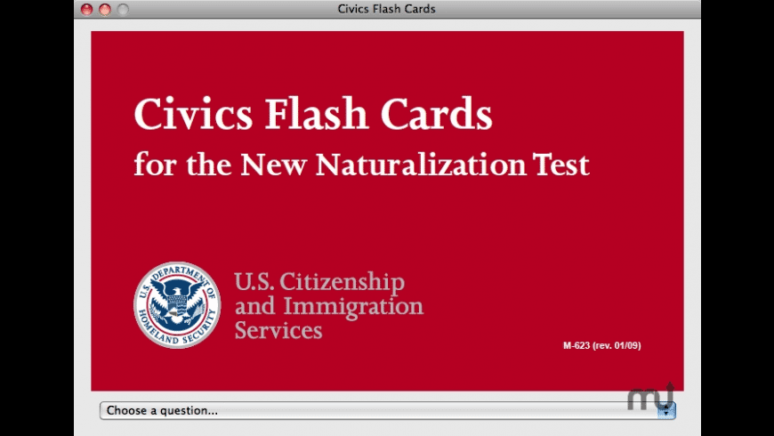 Civics Flash Cards for Mac - review, screenshots