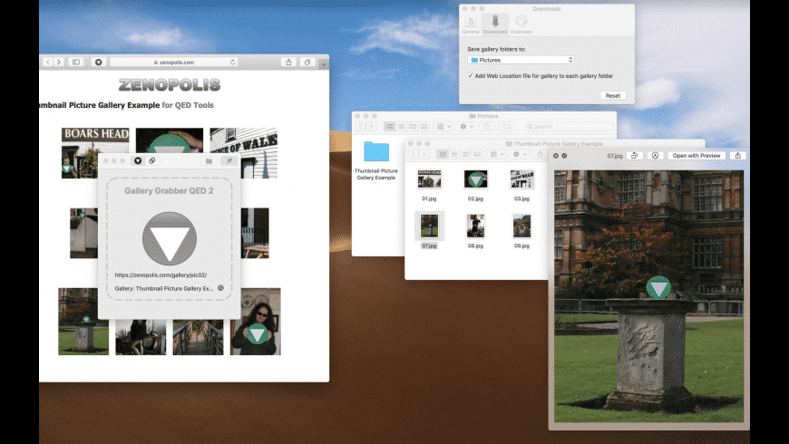 Gallery Grabber QED for Mac - review, screenshots