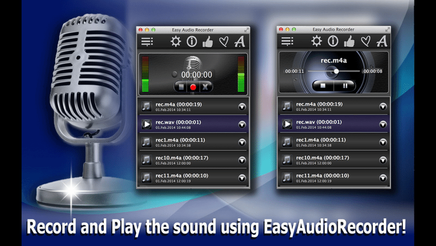 EasyAudioRecorder for Mac - review, screenshots