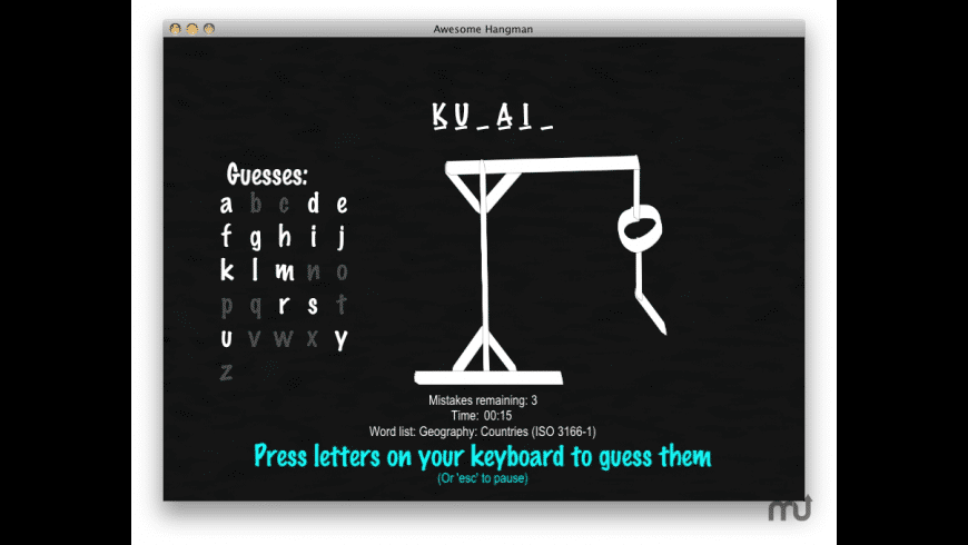 Awesome Hangman for Mac - review, screenshots