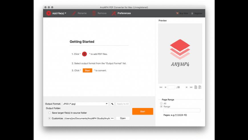 AnyMP4 PDF Converter for Mac - review, screenshots
