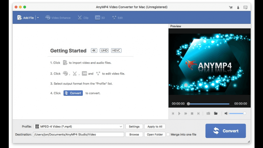 AnyMP4 Video Converter for Mac - review, screenshots