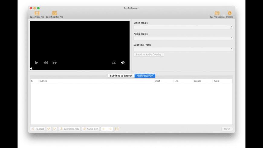 SubToSpeech for Mac - review, screenshots