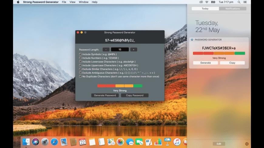 Strong Password Generator for Mac - review, screenshots
