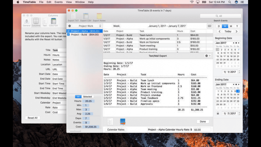TimeTable 3 for Mac - review, screenshots