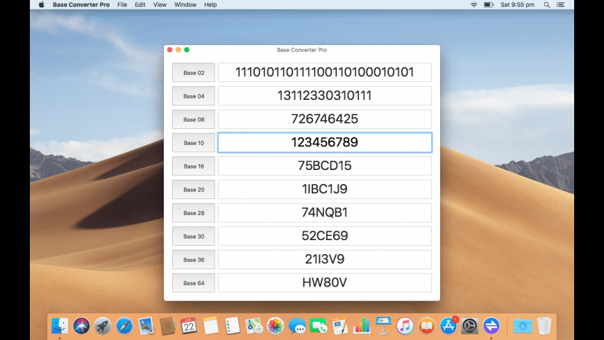 Base Converter Pro for Mac - review, screenshots