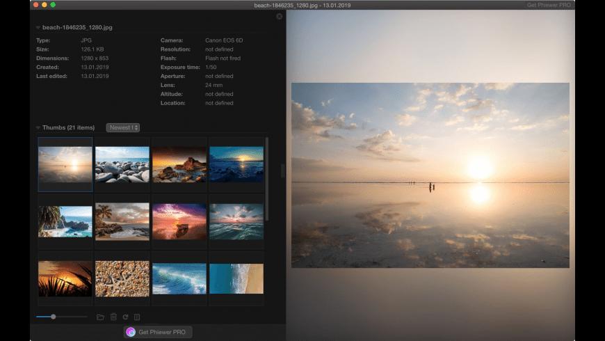 Phiewer for Mac - review, screenshots