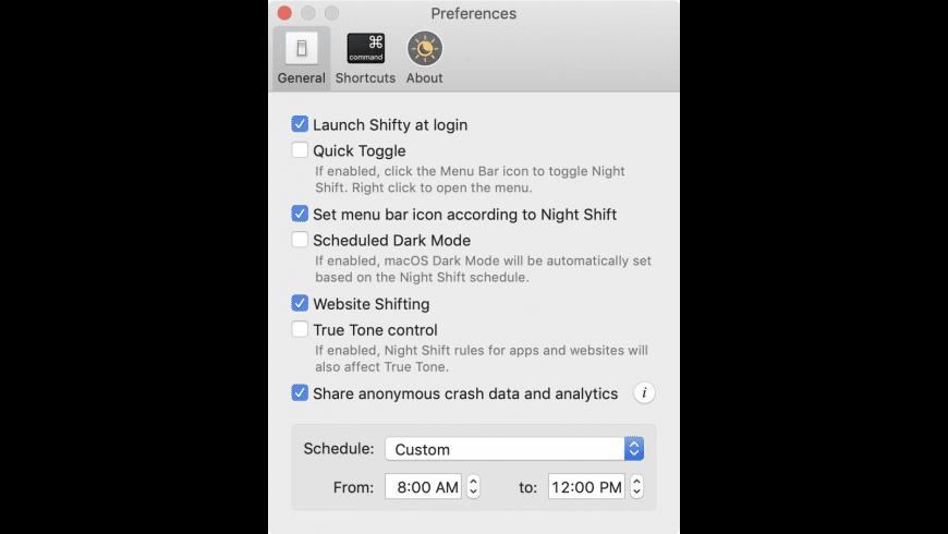 Shifty for Mac - review, screenshots