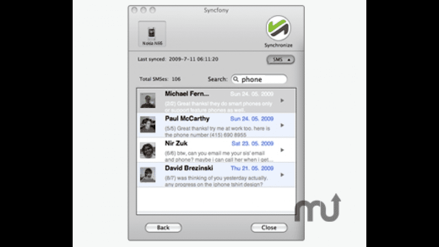Syncfony for Mac - review, screenshots