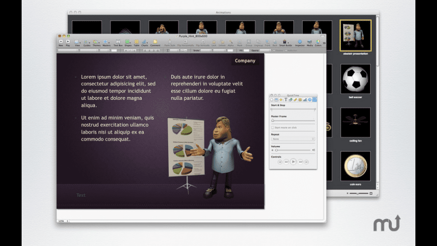 Animations for Mac - review, screenshots