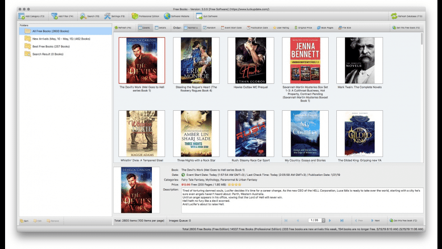 Free Books for Mac - review, screenshots