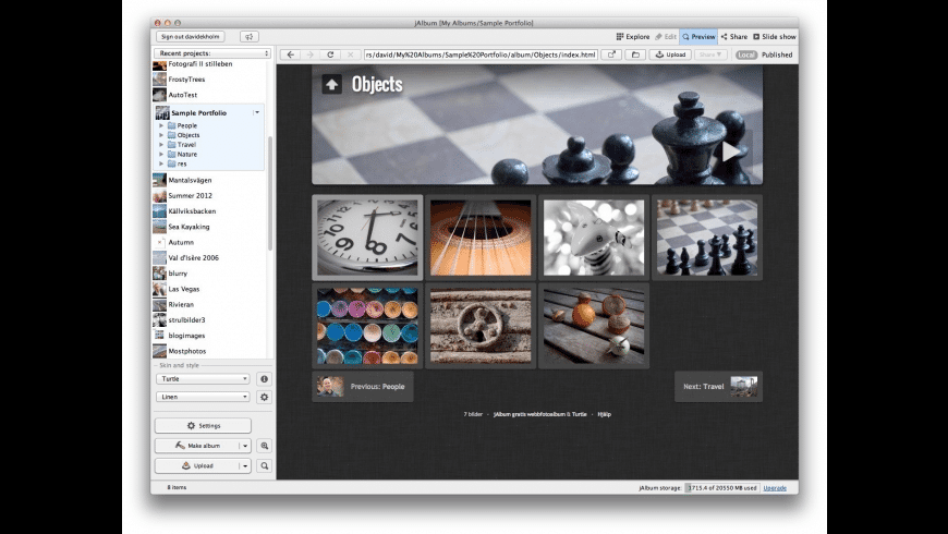 jAlbum Pro for Mac - review, screenshots