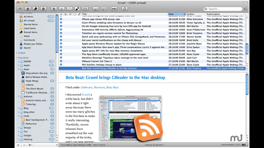 Gruml for Mac - review, screenshots