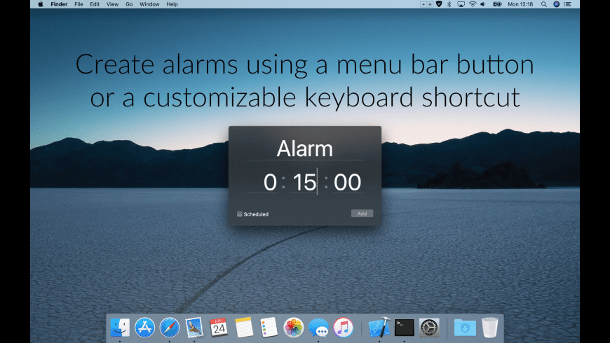 Alarmey for Mac - review, screenshots