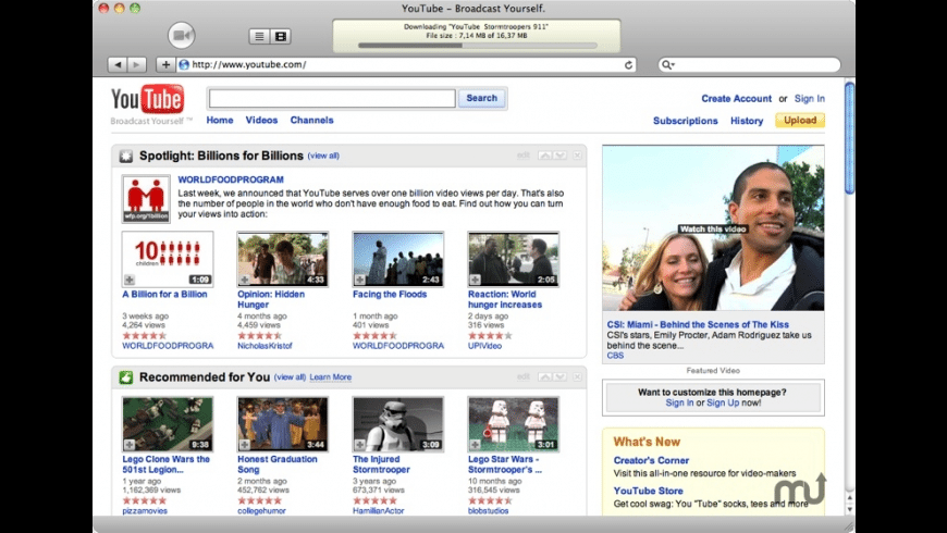 iTubeGrabber for Mac - review, screenshots