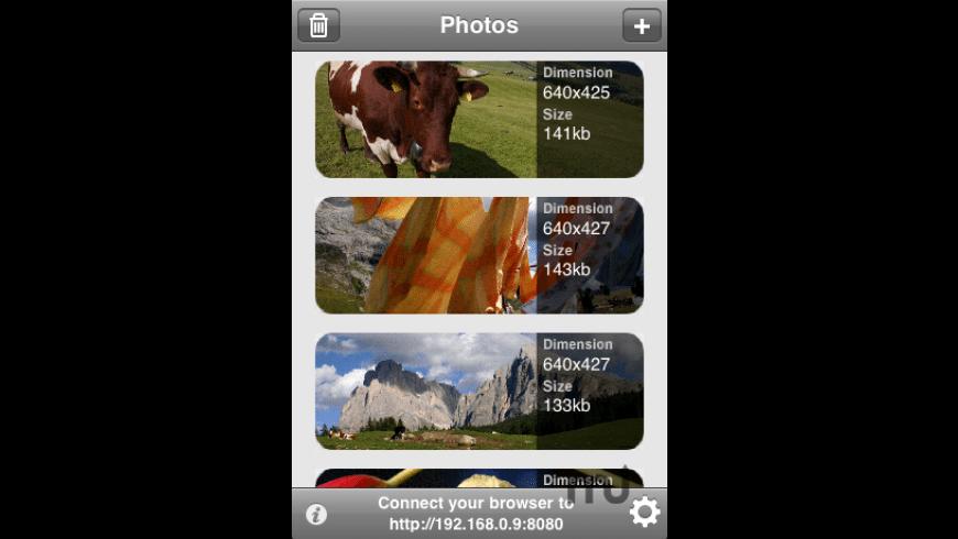 WiFiPhoto for Mac - review, screenshots