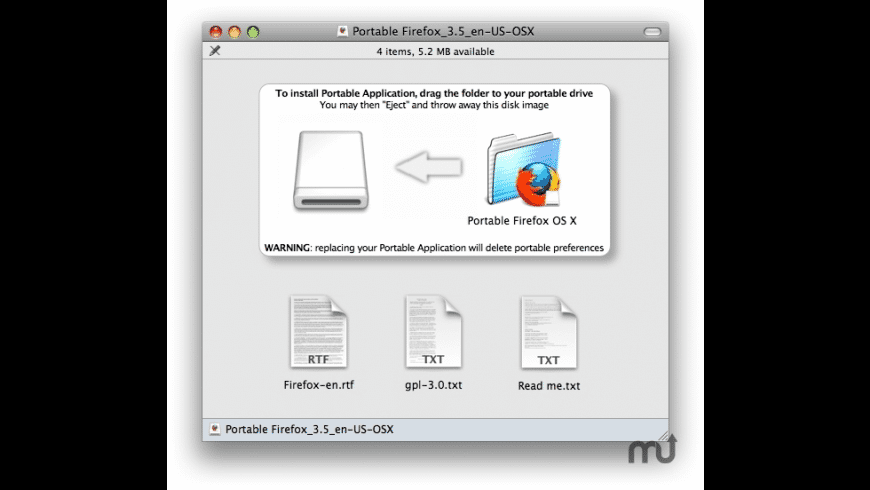 Portable Firefox for Mac - review, screenshots