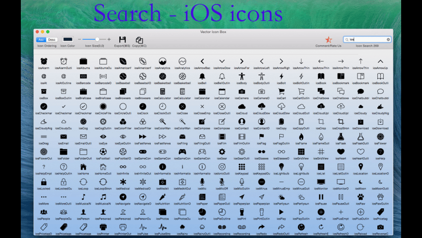 Vector Icon Box Pro for Mac - review, screenshots