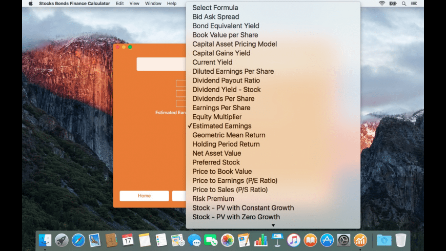 Stocks Bonds Finance Calculator for Mac - review, screenshots