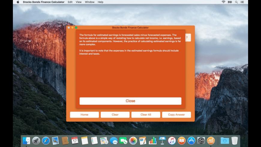 Stocks Bonds Finance Calculator for Mac - review, screenshots