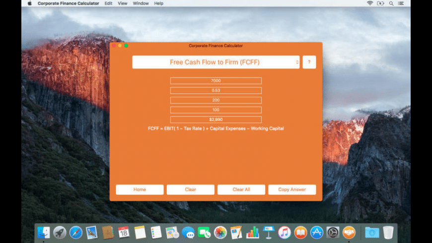 Corporate Finance Calculator for Mac - review, screenshots
