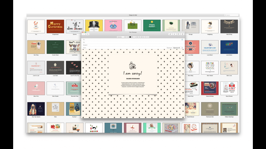 Mail Stationery Expert for Mac - review, screenshots