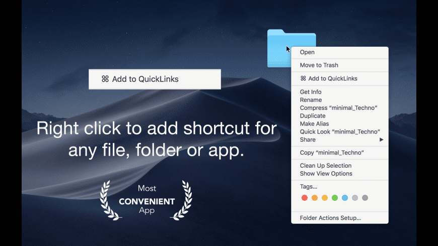 QuickLinks for Mac - review, screenshots