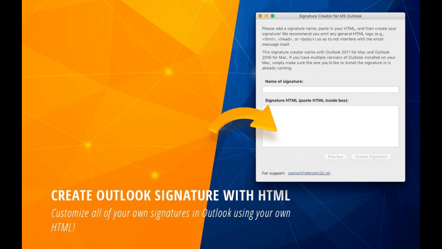 HTML Email Signature - Outlook for Mac - review, screenshots
