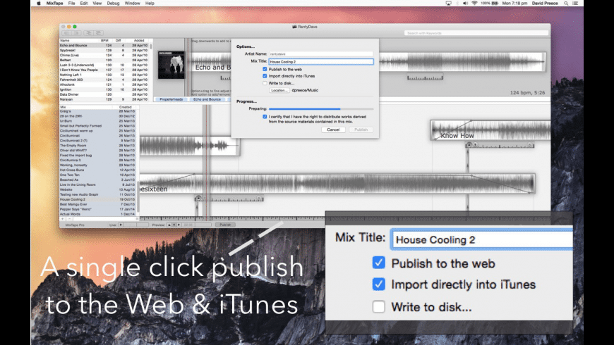 MixTape Pro for Mac - review, screenshots