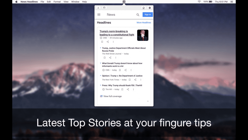 News Headlines for Mac - review, screenshots