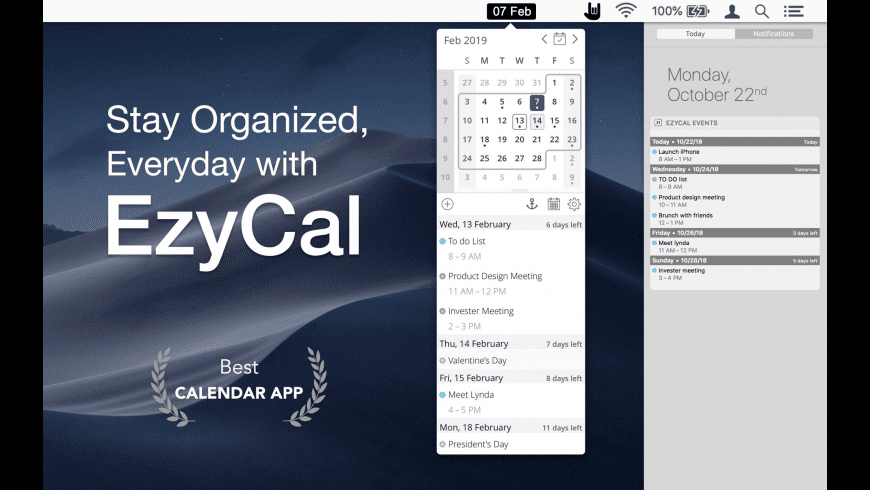 EzyCal for Mac - review, screenshots