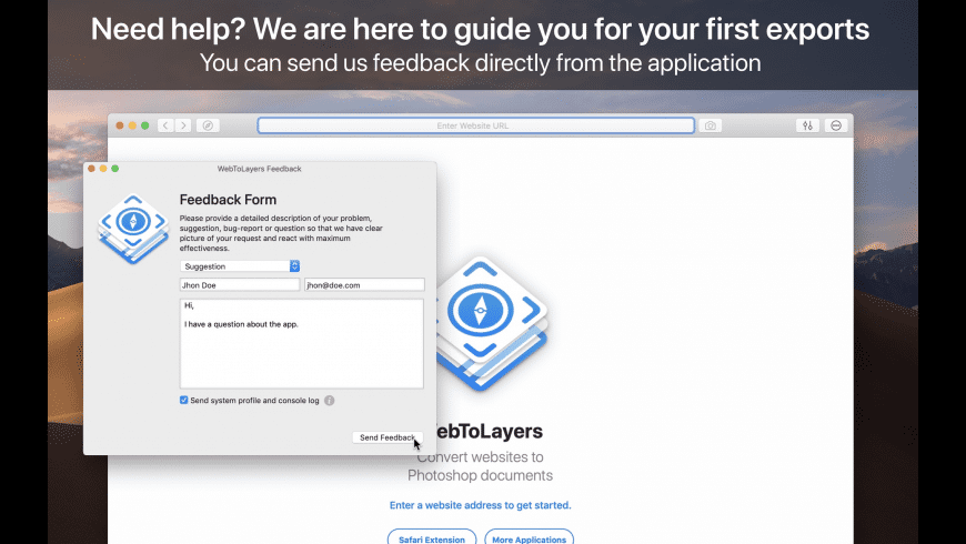 WebToLayers for Mac - review, screenshots
