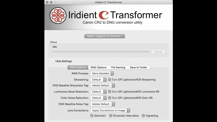 Iridient C-Transformer for Mac - review, screenshots