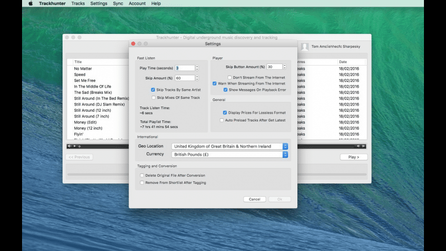 Trackhunter for Mac - review, screenshots
