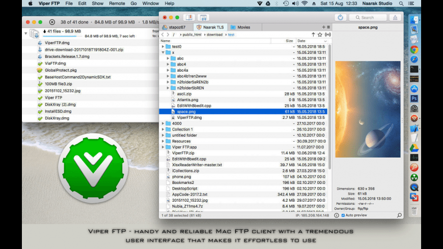Viper FTP Lite for Mac - review, screenshots