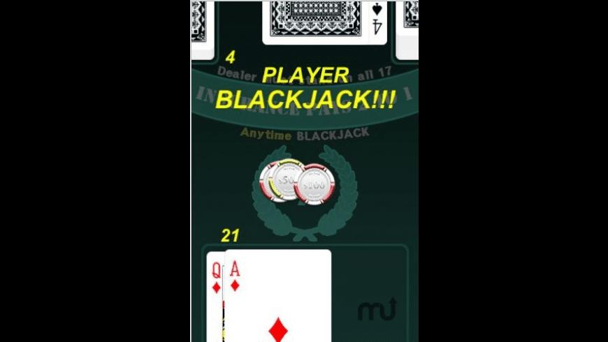 Anytime Blackjack for Mac - review, screenshots