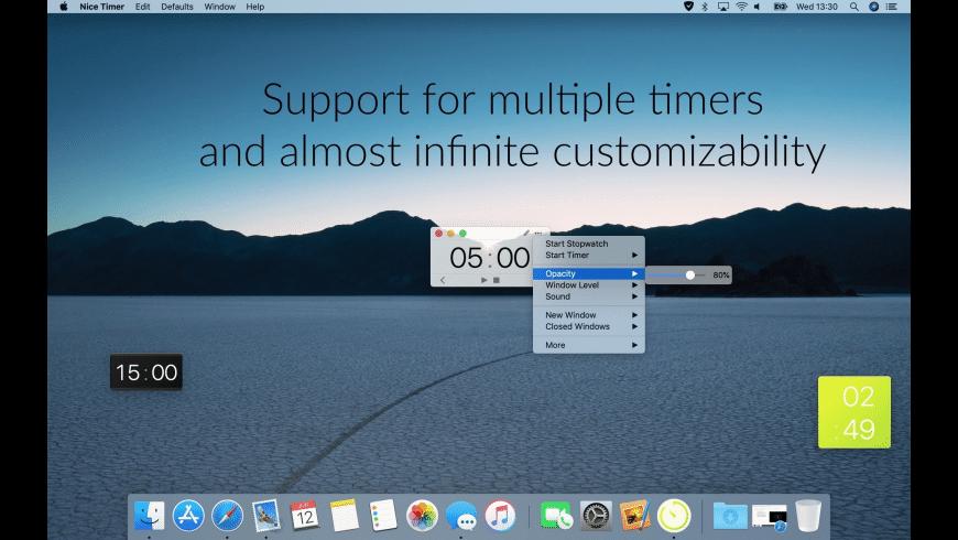 Nice Timer 3 for Mac - review, screenshots