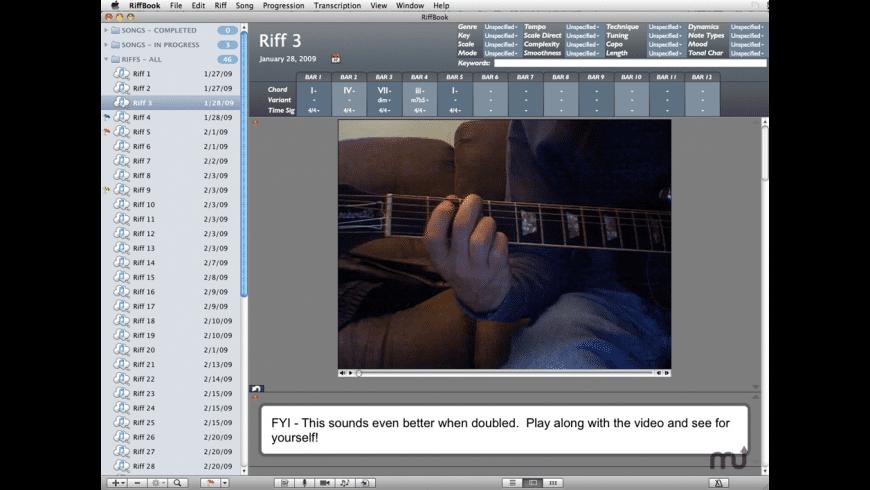 RiffBook Pro for Mac - review, screenshots